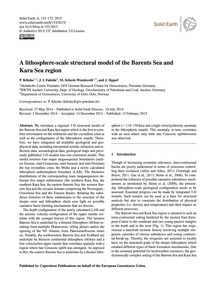 A Lithosphere-scale Structural Model of ... by Klitzke, P.