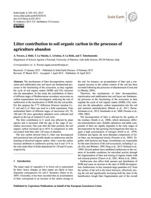 Litter Contribution to Soil Organic Carb... by Novara, A.