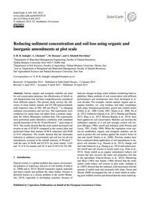 Reducing Sediment Concentration and Soil... by Sadeghi, S. H. R.