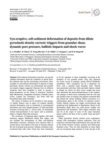 Syn-eruptive, Soft-sediment Deformation ... by Douillet, G. A.
