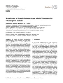 Remediation of Degraded Arable Steppe So... by Wiesmeier, M.