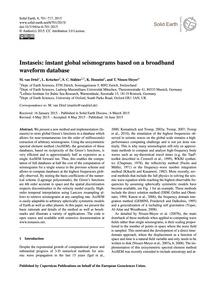 Instaseis: Instant Global Seismograms Ba... by Van Driel, M.