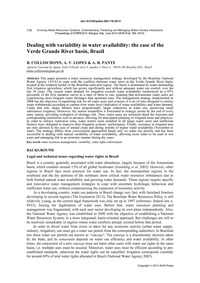 Dealing with Variability in Water Availa... by Collischonn, B.
