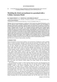 Modelling the Shrub Encroachment in a Gr... by Caracciolo, D.