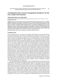 An Integrated Water Resources Management... by Mohamed, M. M.