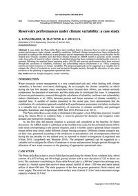 Reservoirs Performances Under Climate Va... by Longobardi, A.
