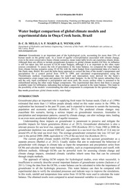 Water Budget Comparison of Global Climat... by Melo, D. C. D.