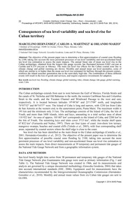 Consequences of Sea Level Variability an... by Hernández, M.