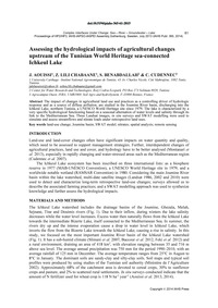 Assessing the Hydrological Impacts of Ag... by Aouissi, J.