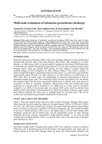 Multi-scale Evaluations of Submarine Gro... by Taniguchi, M.
