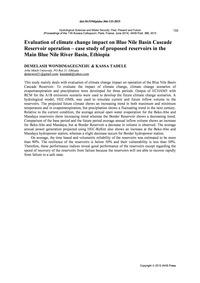 Evaluation of Climate Change Impact on B... by Wondimagegnehu, D.