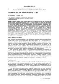 Panta Rhei, the New Science Decade of Ia... by Savenije, H. H. G.