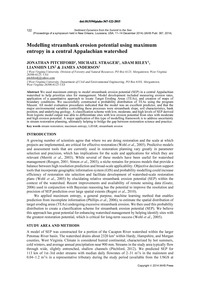 Modelling Streambank Erosion Potential U... by Pitchford, J.
