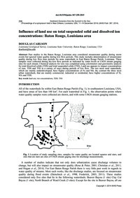 Influence of Land Use on Total Suspended... by Carlson, D.