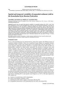 Spatial and Temporal Variability of Susp... by Kuksina, L.