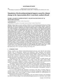 Simulation of Hydrosedimentological Impa... by Ramos Iensen, I. R.