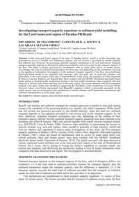 Investigating Transport Capacity Equatio... by De Figueiredo, E. E.