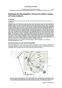 Rethinking the Mississippi River Diversi... by Jun Xu, Y.