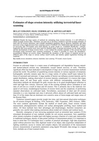 Estimates of Slope Erosion Intensity Uti... by Usmanov, B.