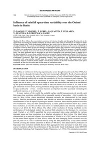 Influence of Rainfall Space-time Variabi... by Gascon, T.