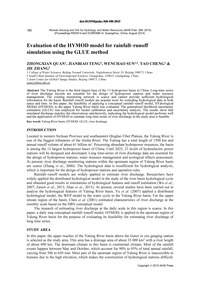 Evaluation of the Hymod Model for Rainfa... by Quan, Z.