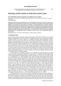 Detecting Runoff Variation in Weihe Rive... by Jingjing, F.