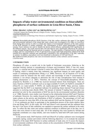 Impacts of Lake Water Environmental Cond... by Zhang, Y.