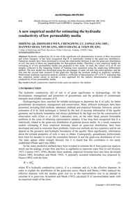 A New Empirical Model for Estimating the... by Qi, S.