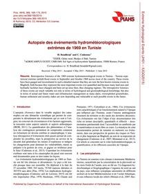 Autopsie Des Événements Hydrométéorologi... by Boudhraâ, H.