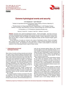 Extreme Hydrological Events and Security... by Kundzewicz, Z. W.
