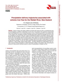 Precipitation Delivery Trajectories Asso... by Kingston, D. G.