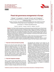 Flood Risk Governance Arrangements in Eu... by Matczak, P.