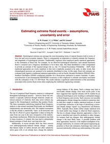 Estimating Extreme Flood Events – Assump... by Franks, S. W.