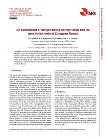 An Assessment of Danger During Spring Fl... by Frolova, N. L.