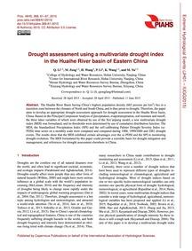 Drought Assessment Using a Multivariate ... by Li, Q.