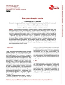 European Drought Trends : Volume 369, Is... by Gudmundsson, L.