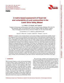 A Metric-based Assessment of Flood Risk ... by Adeloye, A. J.