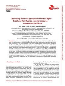 Decreasing Flood Risk Perception in Port... by Allasia, D. G.