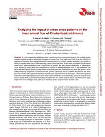 Analysing the Impact of Urban Areas Patt... by Salavati, B.
