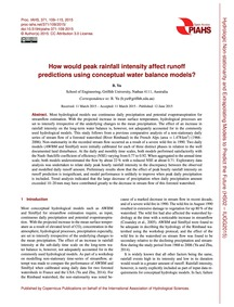 How Would Peak Rainfall Intensity Affect... by Yu, B.