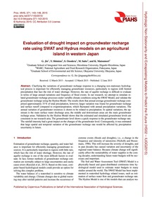 Evaluation of Drought Impact on Groundwa... by Jin, G.