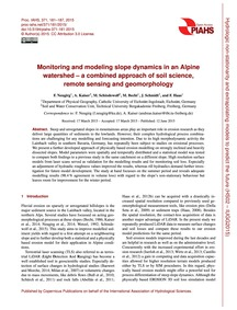 Monitoring and Modeling Slope Dynamics i... by Neugirg, F.