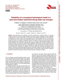 Reliability of a Conceptual Hydrological... by Hublart, P.