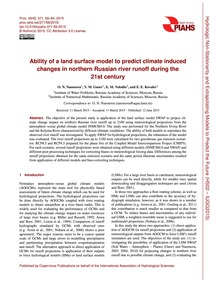 Ability of a Land Surface Model to Predi... by Nasonova, O. N.