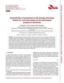 Generalization of Parameters in the Stor... by Fujimura, K.