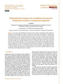 Characterizing Change in the Variability... by Suteanu, C.