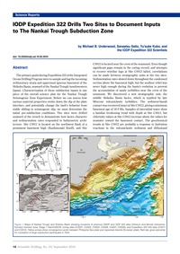 Iodp Expedition 322 Drills Two Sites to ... by Underwood, M. B.