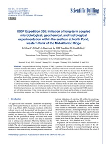 Iodp Expedition 336: Initiation of Long-... by Edwards, K.