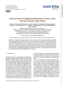 Probing Reservoir-triggered Earthquakes ... by Gupta, H.