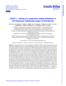 Cosc-1 – Drilling of a Subduction-relate... by Lorenz, H.